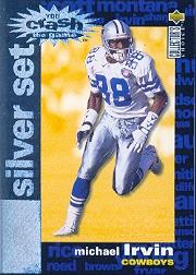1995 Collector's Choice Crash The Game Silver Redemption #C27 Michael Irvin