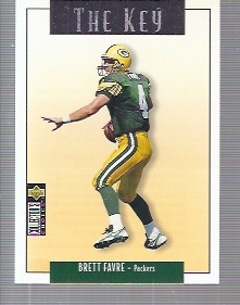 1995 Collector's Choice Update Silver #U73 Brett Favre K
