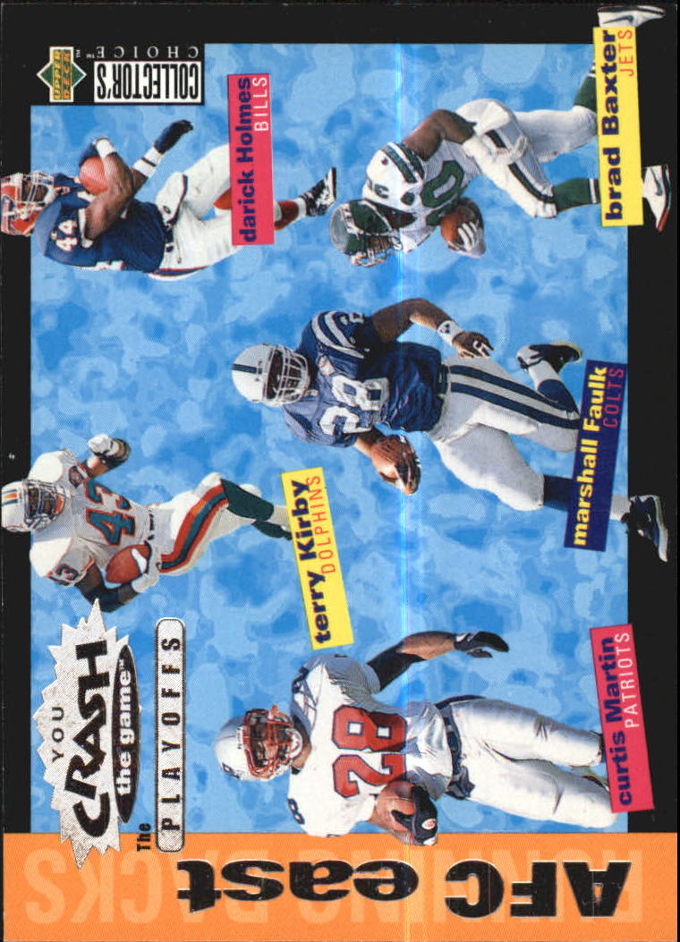 1995 Collector's Choice Update Crash the Playoffs #CP7 AFC East RB/Martin