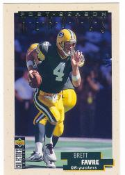 1995 Collector's Choice Update Post Season Heroics Gold #13 Brett Favre
