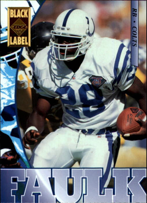 1995 Collector's Edge Black Label #82 Marshall Faulk