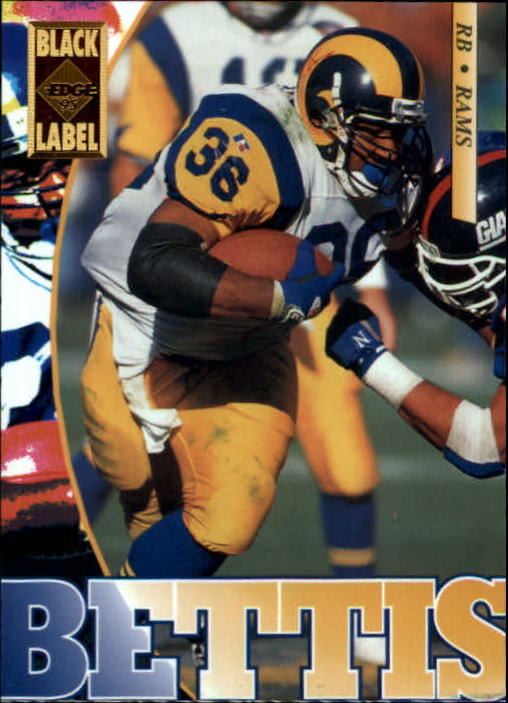 1995 Collector's Edge Black Label #107 Jerome Bettis