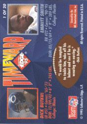 1995 Collector's Edge TimeWarp Black Label #1 Emmitt Smith/Butkus back image