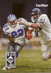 1995 Collector's Edge TimeWarp Black Label #1 Emmitt Smith/Butkus front image