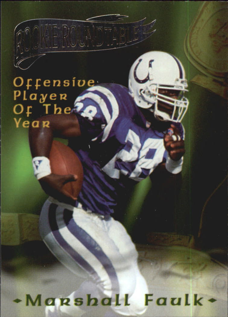 1995 Excalibur Rookie Roundtable #25 Marshall Faulk POY