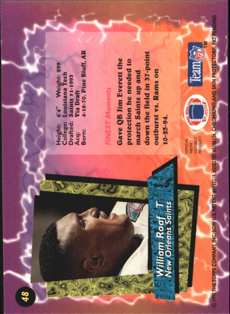 1995 Finest #48 Willie Roaf back image