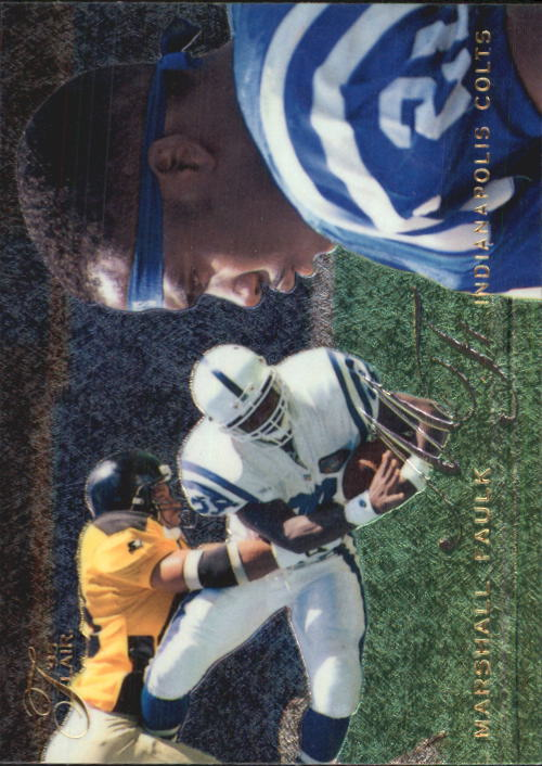 1995 Flair #91 Marshall Faulk