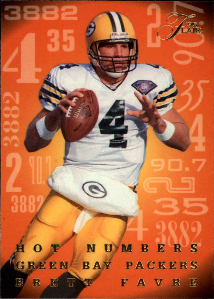 1995 Flair Hot Numbers #6 Brett Favre