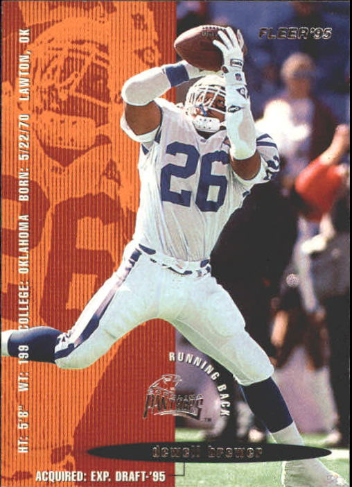 1995 Fleer #41 Dewell Brewer RC