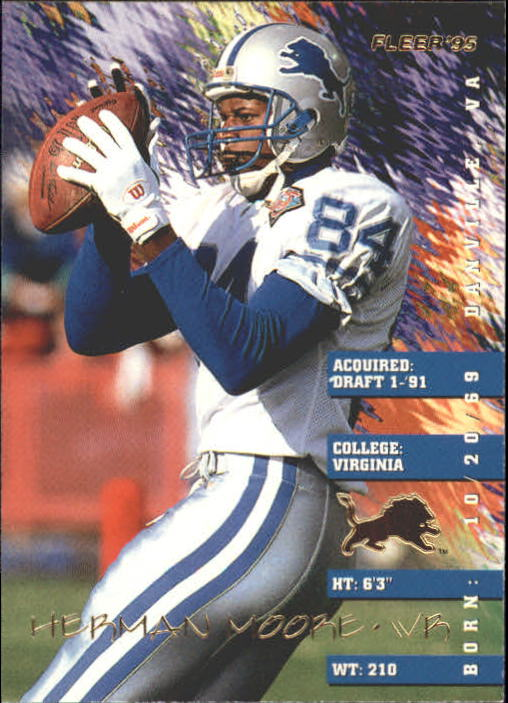 1995 Fleer #126 Herman Moore