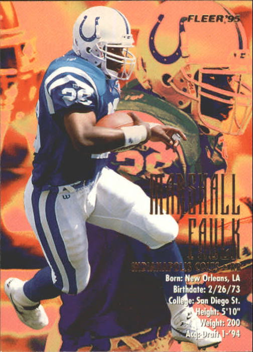 1995 Fleer #163 Marshall Faulk
