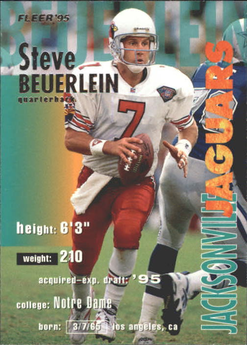 1995 Fleer #168 Steve Beuerlein