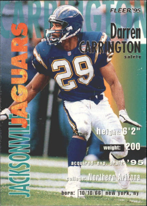 1995 Fleer #169 Darren Carrington