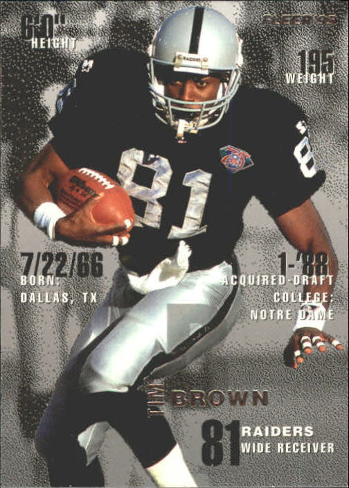 1995 Fleer #188 Tim Brown