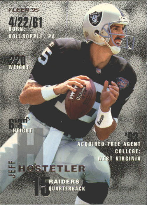 1995 Fleer #192 Jeff Hostetler