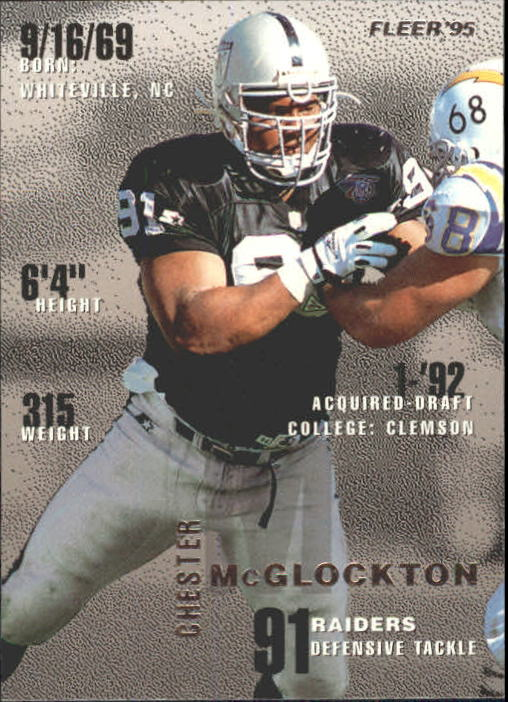 1995 Fleer #195 Chester McGlockton
