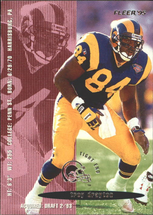 1995 Fleer #204 Troy Drayton