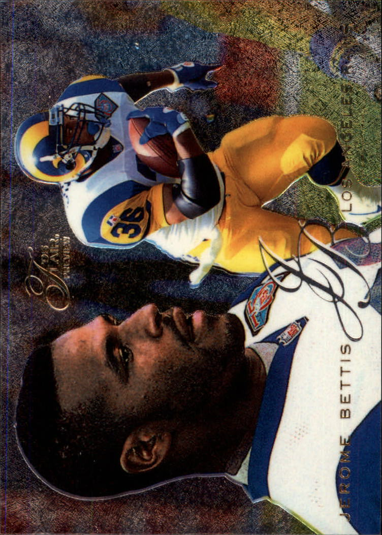 1995 Fleer Flair Preview #17 Jerome Bettis