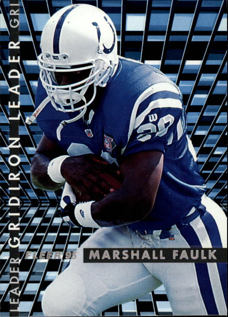 1995 Fleer Gridiron Leaders #3 Marshall Faulk