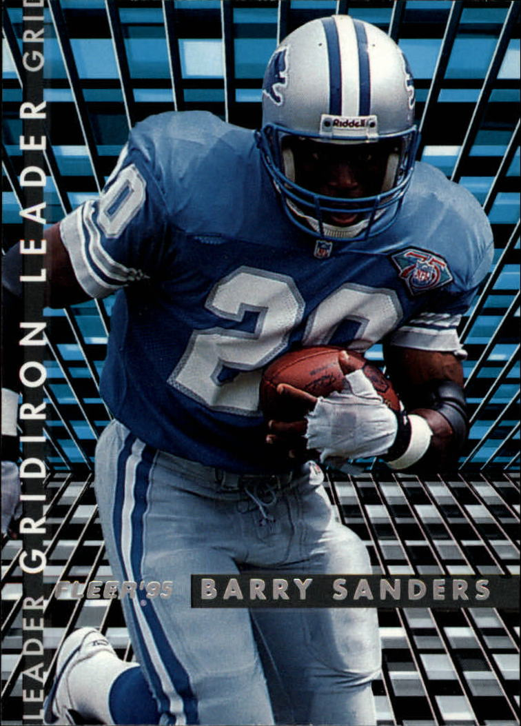 1995 Fleer Gridiron Leaders #5 Barry Sanders