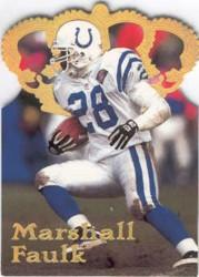 1995 Pacific Gold Crown Die Cuts #DC7 Marshall Faulk