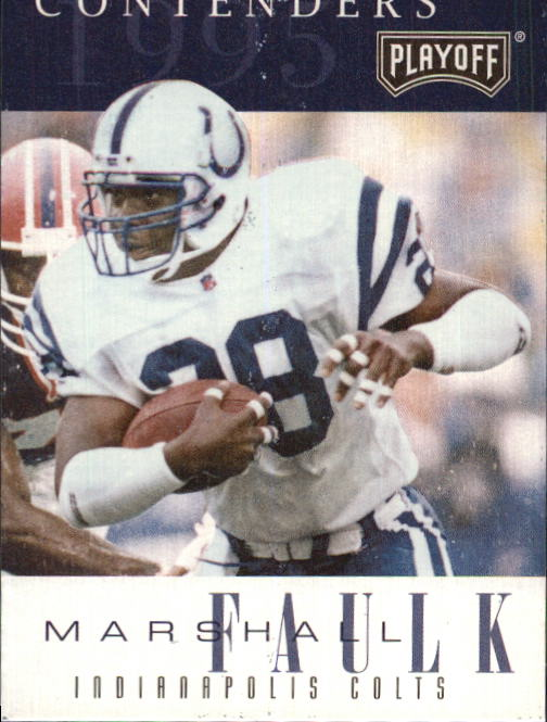 1995 Playoff Contenders #28 Marshall Faulk