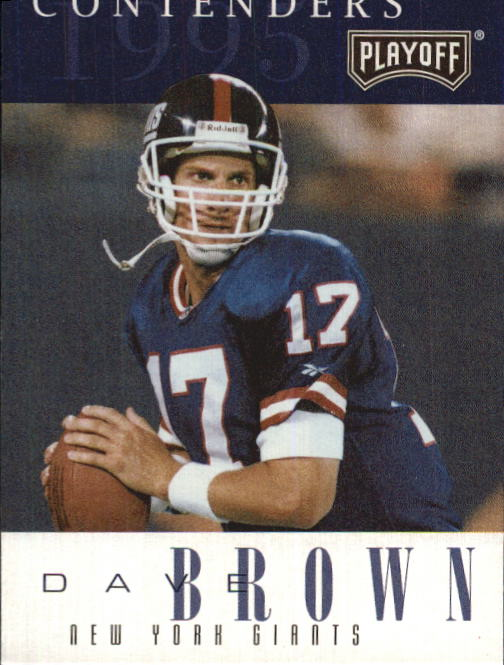 1995 Playoff Contenders #71 Dave Brown