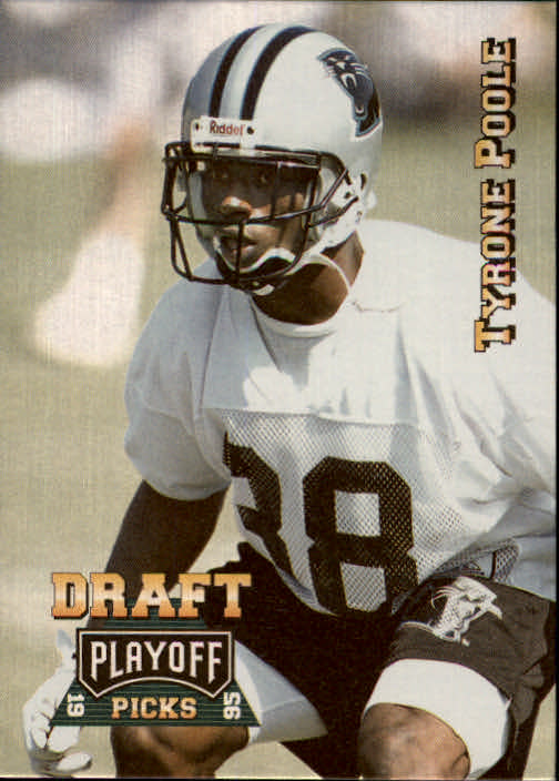 1995 Playoff Prime #179 Tyrone Poole RC
