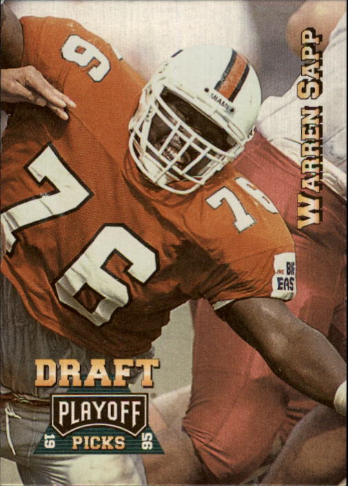 1995 Playoff Prime #190 Warren Sapp RC