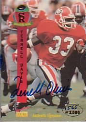 1995 Signature Rookies Signature Prime Autographs #12 Terrell Davis
