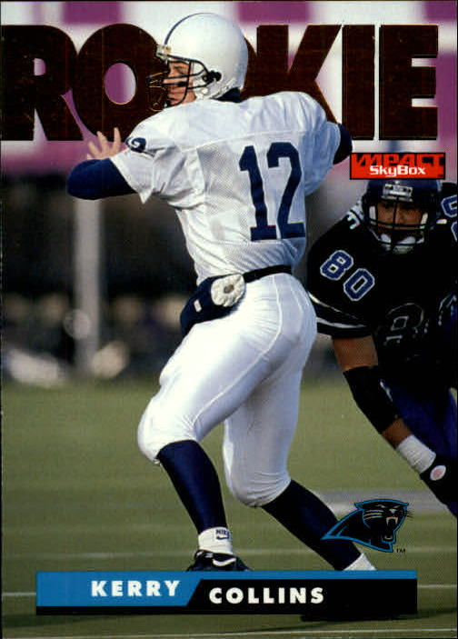 1995 SkyBox Impact #173 Kerry Collins RC