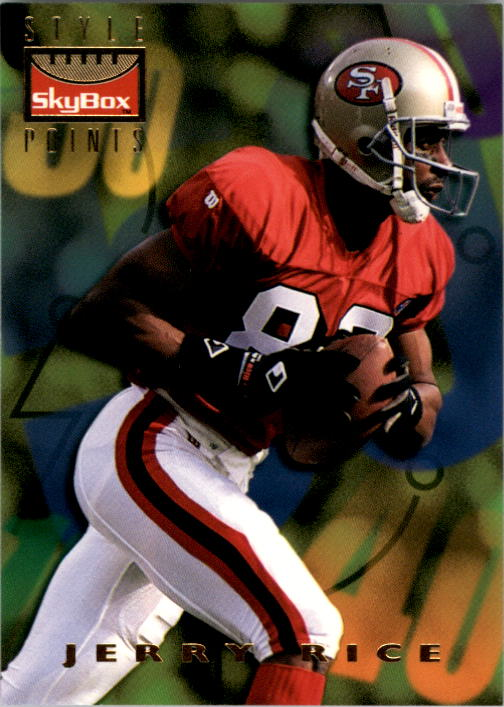 1995 SkyBox Premium #144 Jerry Rice/Turner