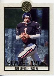 1995 SP Championship Playoff Showcase Die Cuts #PS10 Jeff George