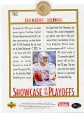 1995 SP Championship Playoff Showcase Die Cuts #PS12 Dan Marino back image