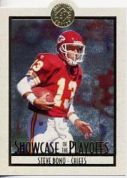 1995 SP Championship Playoff Showcase Die Cuts #PS13 Steve Bono