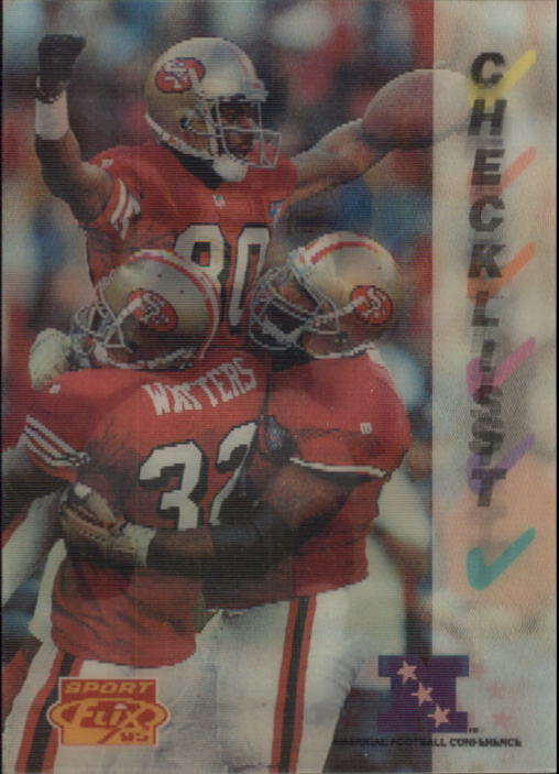 1995 Sportflix #175 Jerry Rice/Junior Seau CL