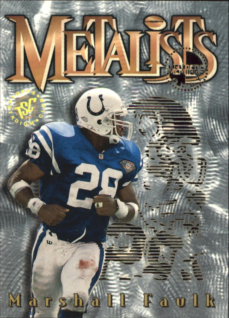1995 Stadium Club Metalists #M7 Marshall Faulk