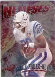 1995 Stadium Club Nemeses #N13 Marshall Faulk/Bryan Cox