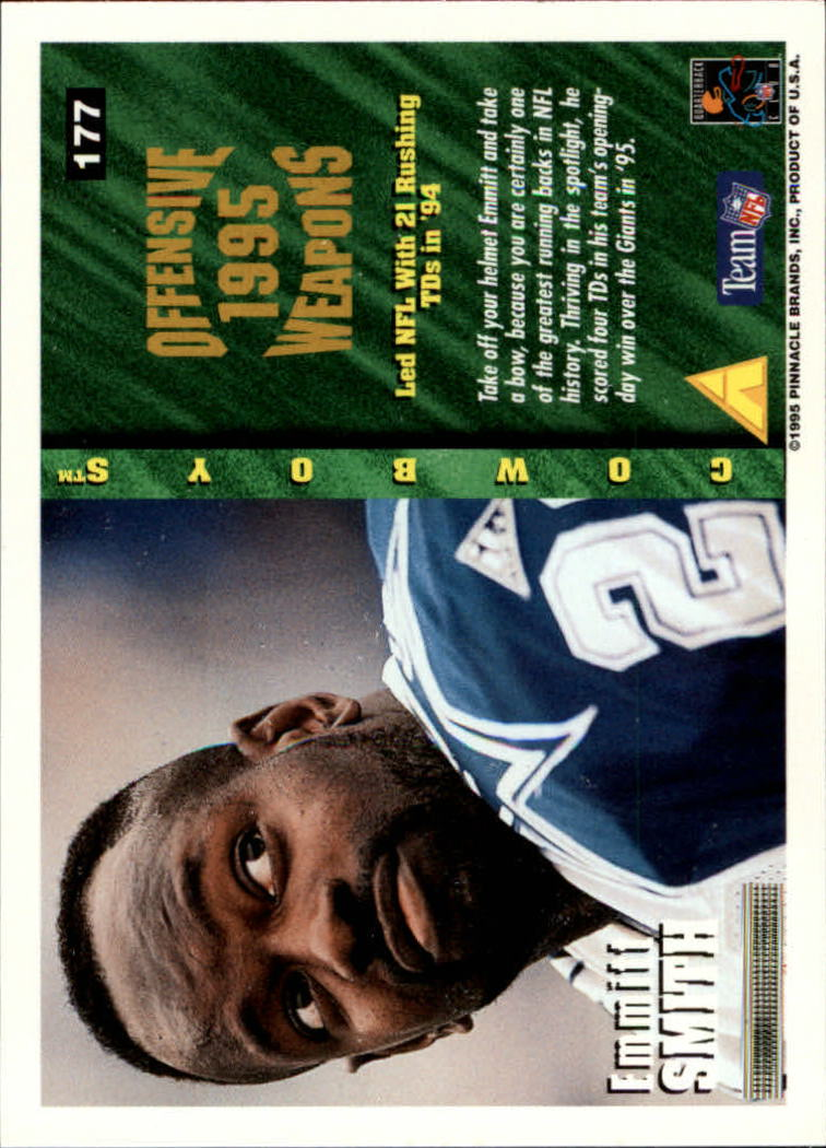 1995 Summit #177 Emmitt Smith OW back image