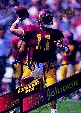 1995 Superior Pix Autographs #11 Rob Johnson/3000
