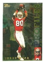 1995 Topps Profiles #9 Jerry Rice