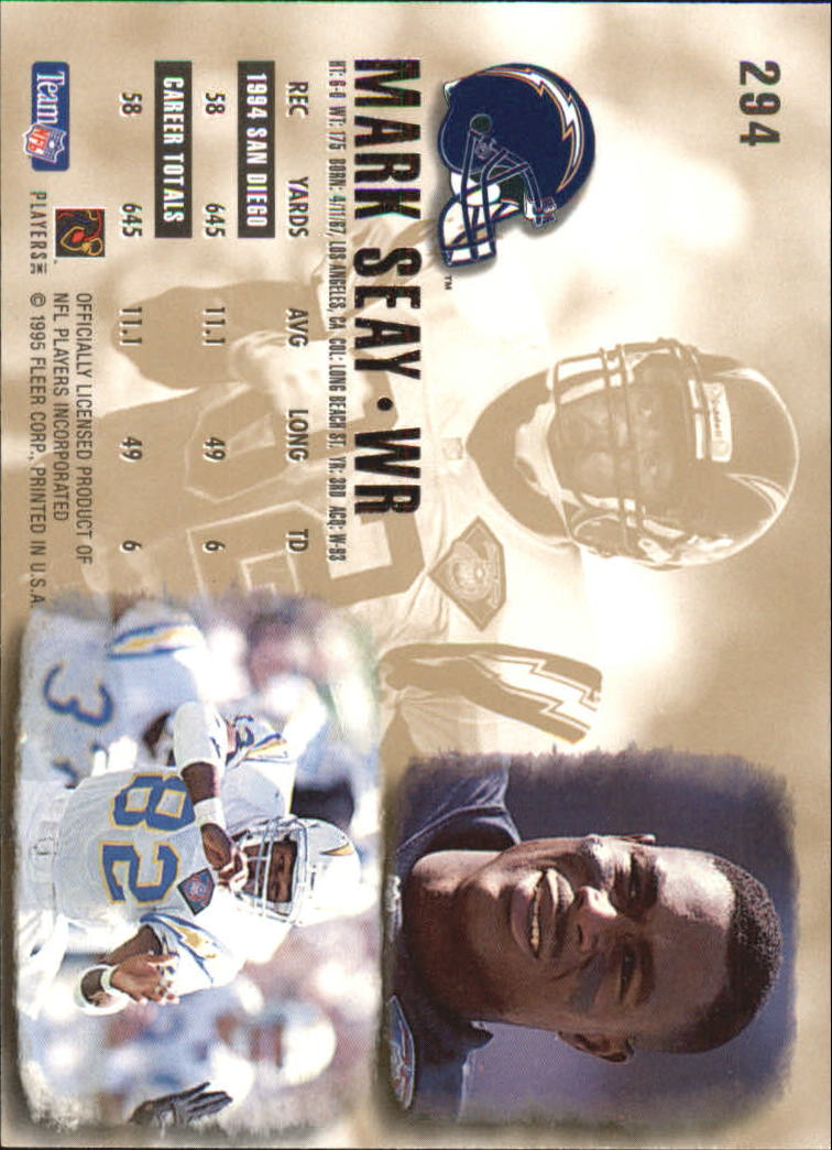 1995 Ultra #294 Mark Seay back image