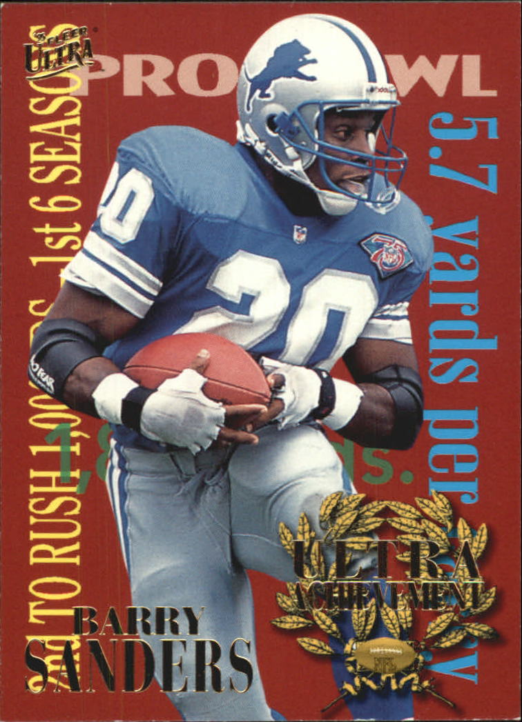 1995 Ultra Achievements #6 Barry Sanders