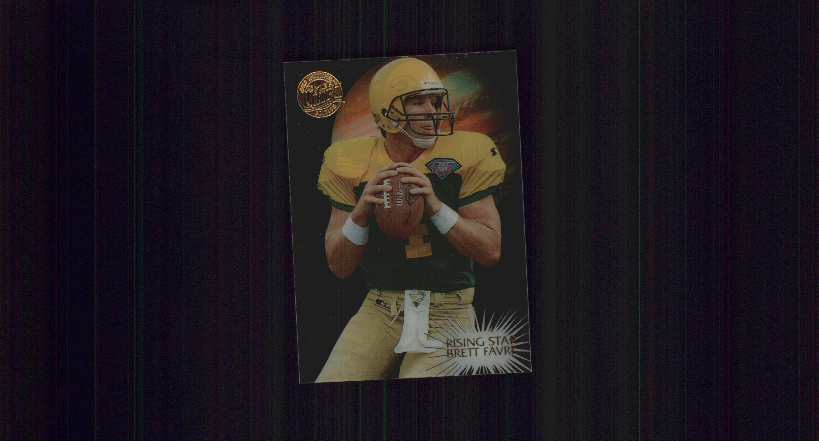 1995 Ultra Rising Stars Gold Medallion #6 Brett Favre