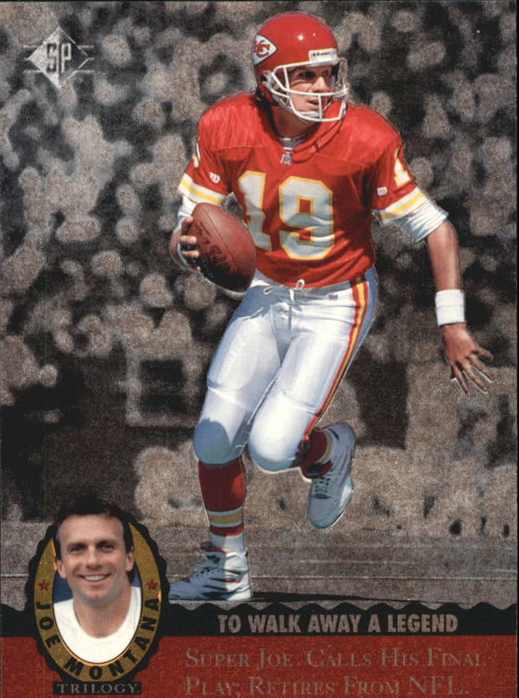 1995 Upper Deck Joe Montana Trilogy #MT20 Joe Montana