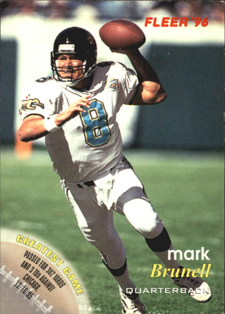 1996 FACT Fleer Shell #47 Mark Brunell