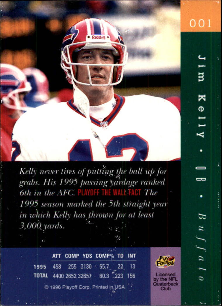 1996 Absolute #1 Jim Kelly back image