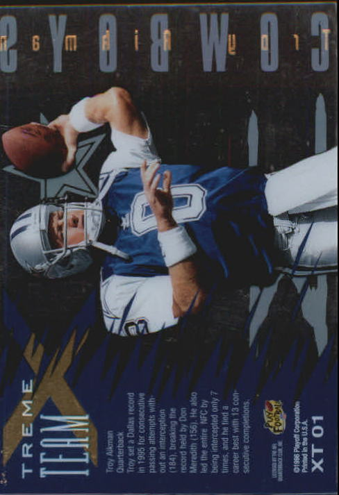 1996 Absolute Xtreme Team #1 Troy Aikman