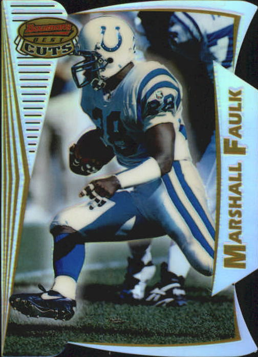 1996 Bowman's Best Cuts Refractors #6 Marshall Faulk
