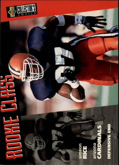 1996 Collector's Choice #3 Simeon Rice RC